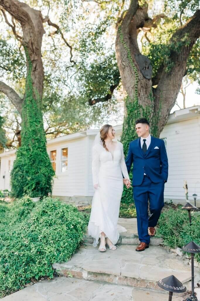 Bride and Groom New Braunfels Wedding