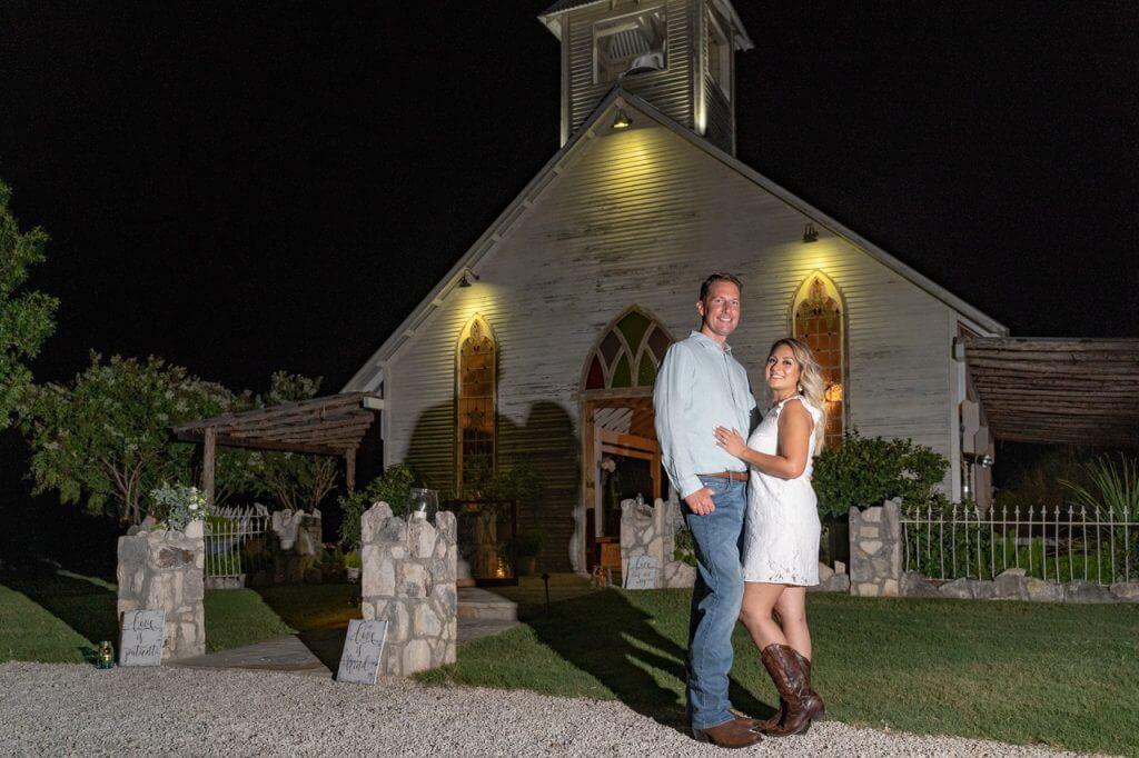 Surprise engagement in Gruene Texas