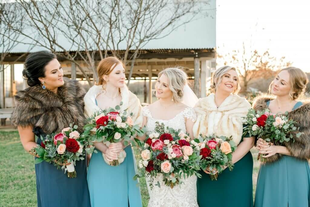 Bridesmaids at a Gruene Texas Wedding